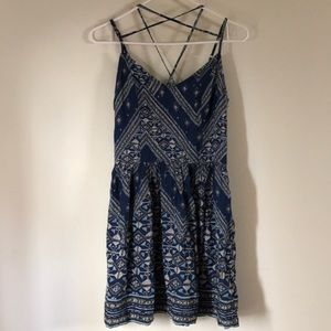 NWT ABERCROMBIE STRAPPY PRINTED DRESS